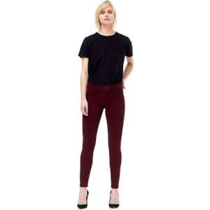 Hudson Nico Midrise Super Skinny Ankle Plum Jeans